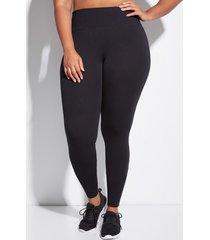 lane bryant women's signature stretch active legging 10/12l black