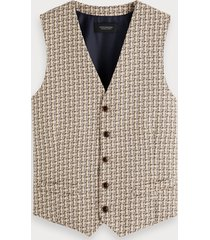 scotch & soda gestructureerd gilet