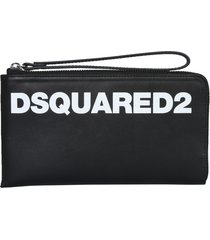 dsquared2 clutch with logo