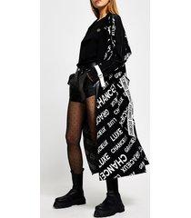 river island womens black 'chanceux luxe' monogram print cardigan