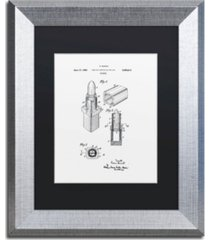 "claire doherty 'chanel lipstick case patent white' matted framed art - 11"" x 14"""
