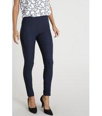calça legging feminina com friso azul marinho