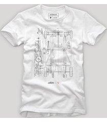 camiseta chassi reserva branco - branco - masculino - dafiti