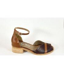 sandalia marrón christ monel june