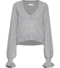 a whole lot of lovely sweater gebreide trui grijs odd molly