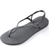 sandalias luna acero gris havaianas