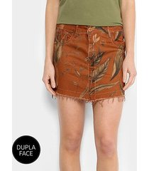 saia curta jeans forum dupla face