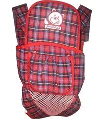 mochila canguru bebê ergonômico land jimibear  super confortável vermelho