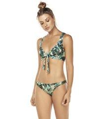 bikini tipo top forest multicolor lisantino