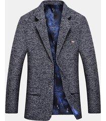 blazer morbido da uomo in tessuto casual con vestibilità comoda