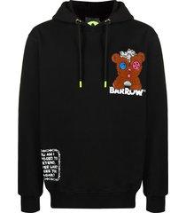 barrow crystal edition jersey hoodie - black