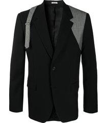 alexander mcqueen buckle-detail blazer - black