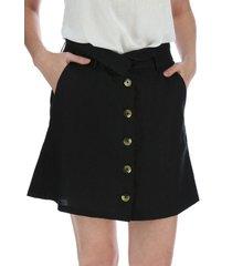 falda lino veronica negro rockford