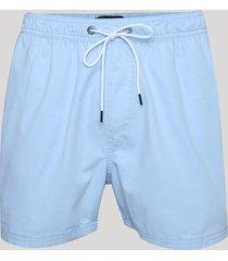 bermuda de sarja masculina relax com bolsos azul claro