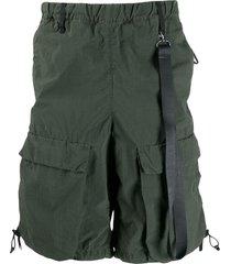 nemen nylon combat shorts - green