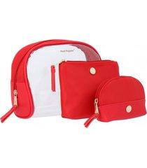 estuche make up bag hp rojo hush puppies