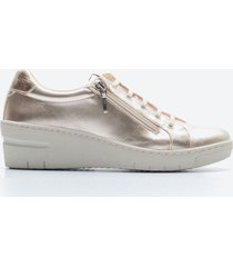 zapato casual mujer freeport z059 dorado