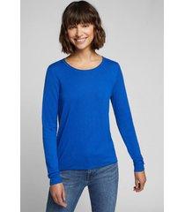 sweater mujer liso azul eléctrico esprit