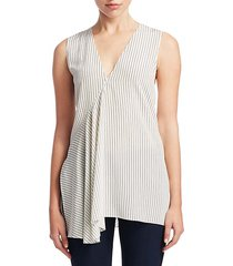 pinstripe fluid silk top
