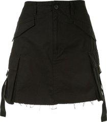 izzue cargo mini skirt - black