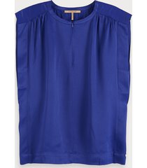 scotch & soda mouwloze top van viscose satijn