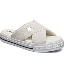star sandal shoes summer shoes flat sandals creme converse