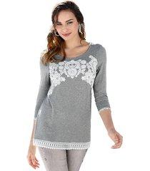 shirt amy vermont grijs::offwhite