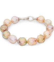 11-13mm multi-color baroque freshwater pearl bracelet