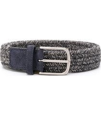 canali woven design belt - blue