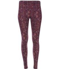 leggings marmolado rojo color morado, talla s