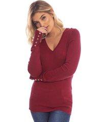 suéter aleatory flawless gola v feminino