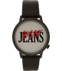 reloj negro-blanco-rojo guess