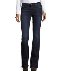 7 for all mankind women's kemmie bootcut jeans - coastal blue - size 24 (0)