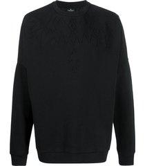 marcelo burlon county of milan embossed wings sweatshirt - black