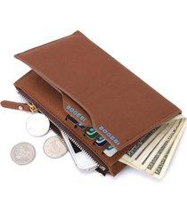 billetera monedero hombre mediana - color marron