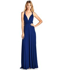 long royal blue convertible maxi infinity spandex bridesmaid wedding gown dress