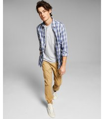 and now this men's soft plaid button-up shirt