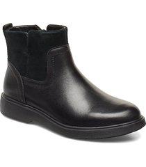 un elda lo shoes boots ankle boots ankle boot - flat svart clarks