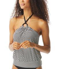 coco reef maven printed halter underwire tankini top women's swimsuit