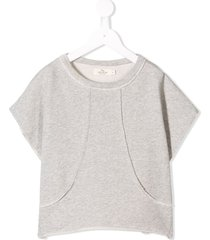andorine short sleeve fleece sweatshirt - grey