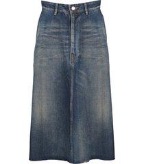balenciaga front kick skirt