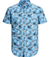 overhemd met korte mouwen tropische print