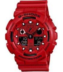 reloj g shock ga_100c_4a rojo resina
