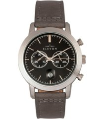 elevon men's langley chronograph genuine leather strap watch 42mm