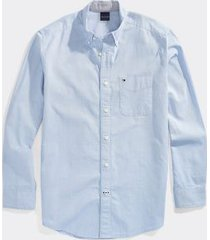 tommy hilfiger men's adaptive regular fit solid shirt collection blue - xxl