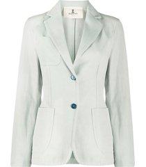 barena tailored cotton blazer - blue