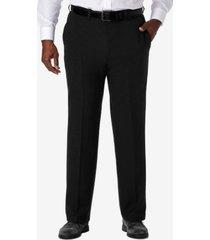 haggar men's big & tall cool 18 pro classic-fit expandable waist flat front stretch dress pants
