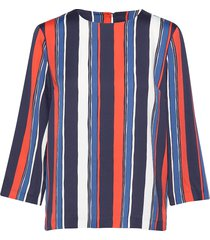 d1. preppy stripe relaxed top blouse lange mouwen multi/patroon gant