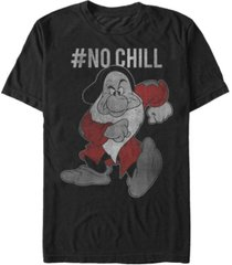 disney men's snow white grumpy no chill vintage short sleeve t-shirt