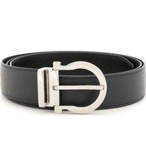 salvatore ferragamo gancini reversible belt - black